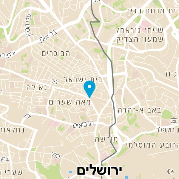 מפה של קווים עמדת טעינה ירושלים