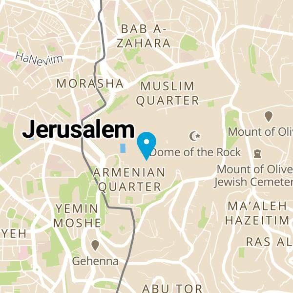 מפה של Hummus Nazmi