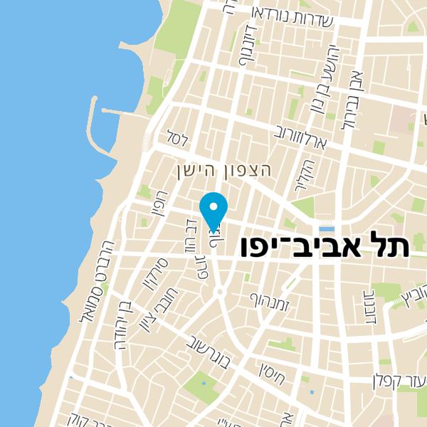 מפה של מלון דיזינגוף אווניו סטייל