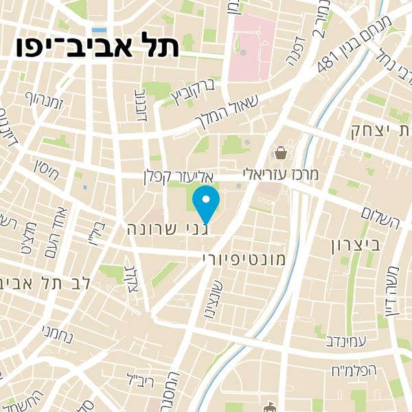 מפה של חניון שרונה