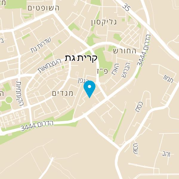 """מפה של רשת שיניים ד""""ר בוחניק"""